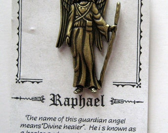 Vintage JJ Angel Raphael Pin Brooch- Jonette Jewelry-unique gift under 15
