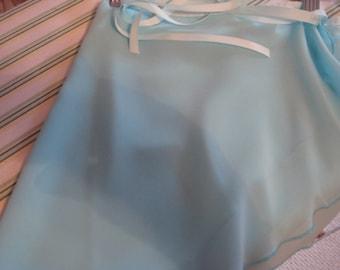 "Ballet Wrap Skirt, 13"" Adult, Aqua"