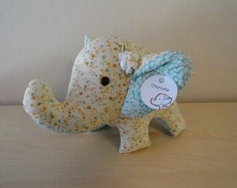 Large Stuffed Elephant- Charlotte