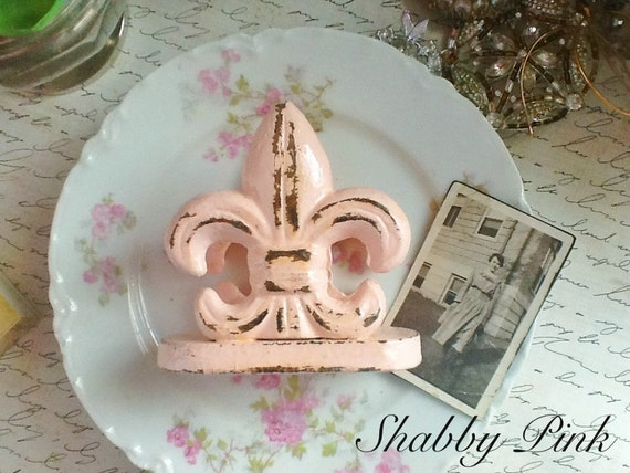 shabby pink fleur de lis business card by alacartcreations on etsy. Black Bedroom Furniture Sets. Home Design Ideas