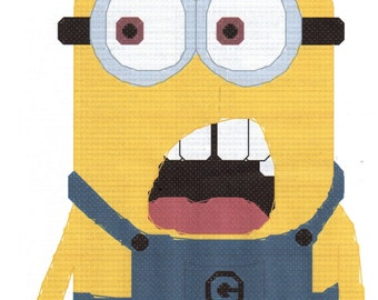 despicable me minion saying whaaat cross stitch pattern