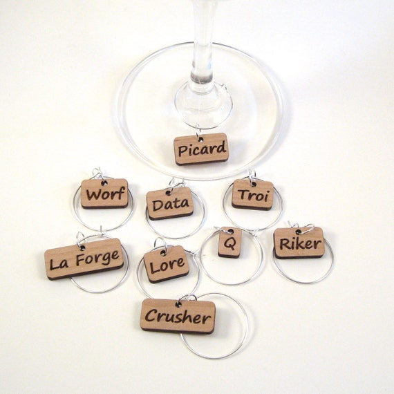 Star Trek: The Next Generation Wine Charms | Star Trek Gift Guide
