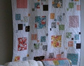"""In The Square Quilt - Handmade Large Lap quilt 54"""" x 54"""""""