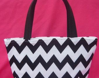 Black and White Chevron Kids Bag