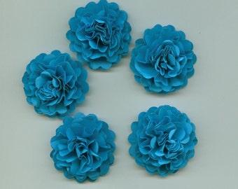 Bright Blue Mini Carnation Paper Flowers
