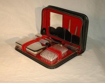 Vintage Men's Leather Travel Kit