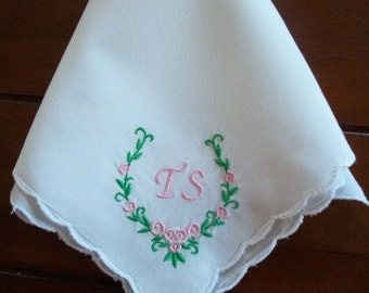 Lovely Custom Embroidered Handkerchief