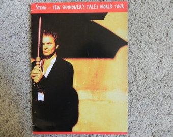 Sting Ten Summoners Tales World Tour Book