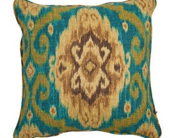 """Pillows cushion cover 20""""   turquoise, brown,  ikat, suzani,   pattern"""