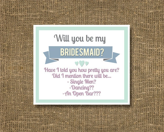 how to ask my bridesmaids to be in my wedding