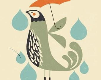 Whimsical Bird Print,  Children's Art Print, Nursery Decor