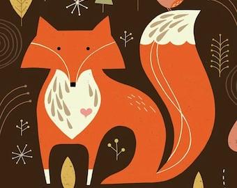 Mr. Fox limited edition giclee print, children's art print, children's decor