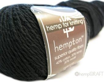 Hemp Cotton Yarn, Black 130yd Hemp/Cotton/Modal Blend