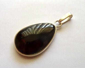Baltic Amber Jewelry Cherry Pendant Drop Natural 925 silver