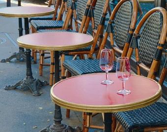 paris photo invitation french street scene fine art photography cafe tables