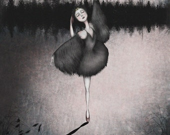 Black swan -  Art print (3 different sizes)