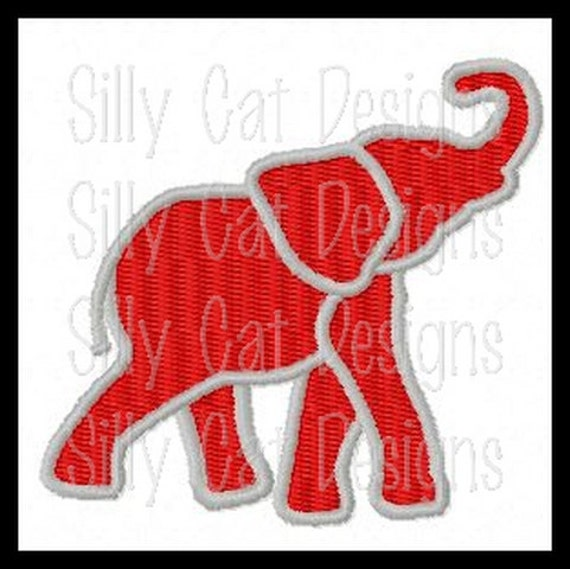 Elephant Mini Fill Stitch Embroidery Design