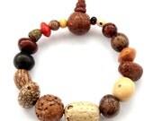 Eighteen Bodhi Pu-Ti Seed Prayer Beads Tibet Buddhist Wrist Mala Bracelet  T2787