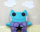 Troxie the Aqua Monster Plush - RESERVED for sweetdreamzalone