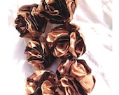 Chocolate Brown Carmel Tan Pom Poms cij - beautifulswagstore