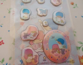 Unrepeatable Kiki & Lala Puffy Sticker Sheet. For sale in Japan only.2003