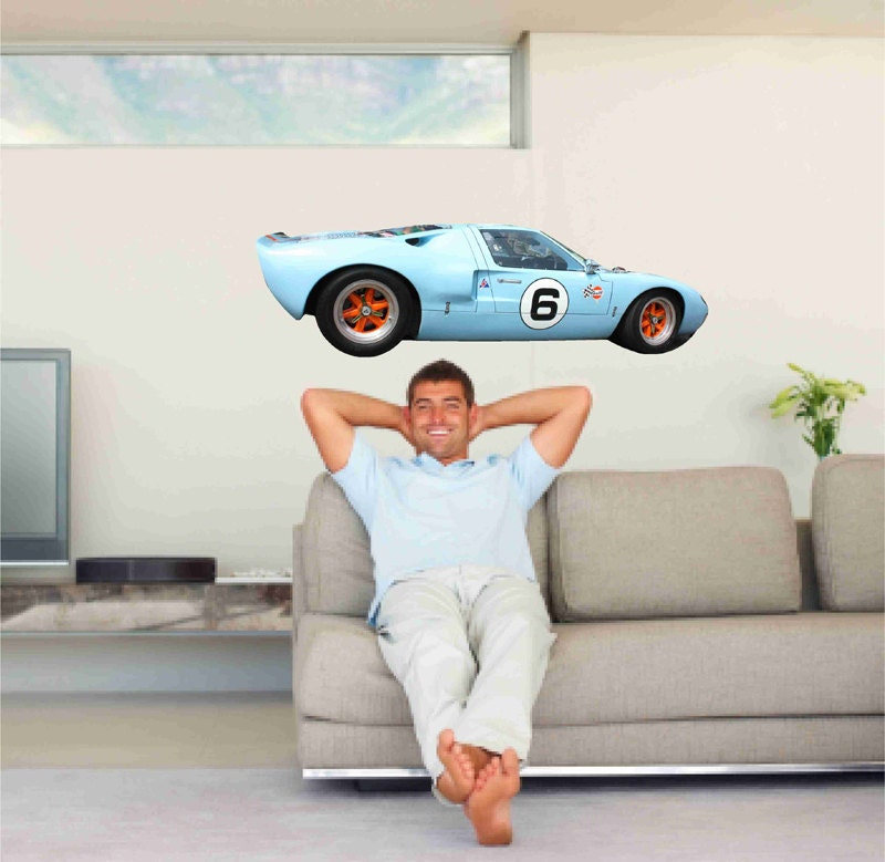 Ford Man Cave Decor : Ford gt race car wall decals man cave decor