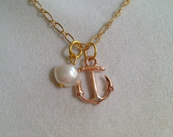 Bridal Anchor and Pearl Necklace