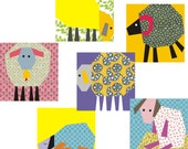 Counting sheep quilt paper piecing Pattern pack of 6 blocks INSTANT DOWNLOAD PDF