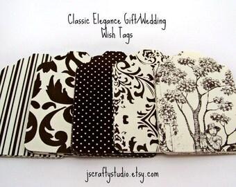 Classic Elegance Wedding Wish, Favor, Gift Tag