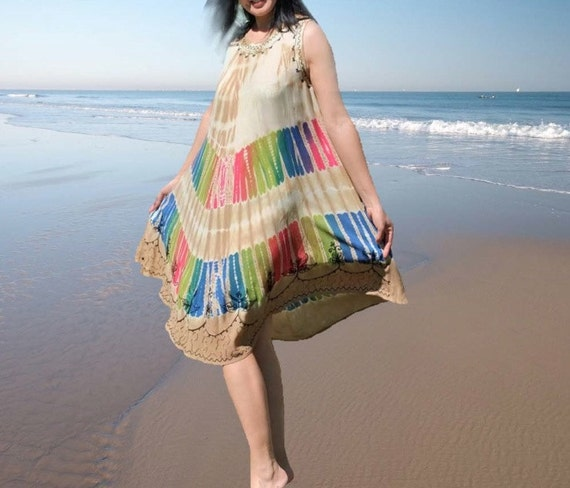 Embroidery colorful women dresses /ethnic style holiday dresses/summer beach dresses