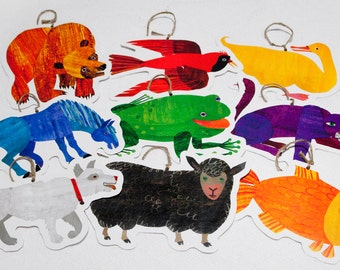 PRINTABLE Brown Bear Book Characters Hanging Party Decorations