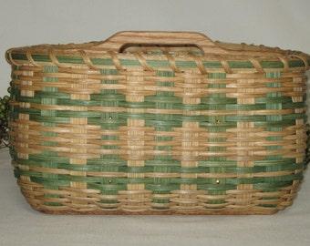 Paper Plate/Silverware Basket-Large / Organizer / Handwoven Basket-Large