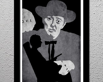 Night of the Hunter - Robert Mitchum - Suspense Movie Cult Limited Edition Original Art Poster Print - 13x19