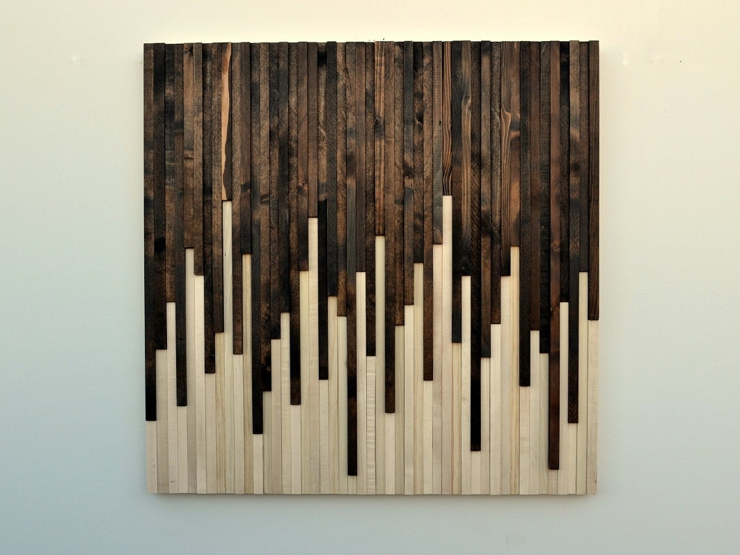 Contemporary Wood Wall Decor : Rustic wood wall art sculpture by moderntextures