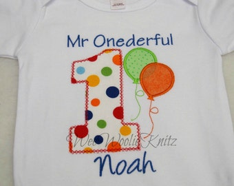 Boys 1st Birthday- T Shirt -Bib -Personalized- Embroidered- Applique First Girls
