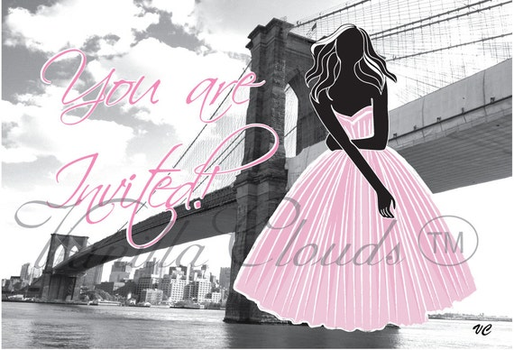 Invite - Brooklyn Bridge, Birthday, Bridal, Bachelorette (Min of 25)