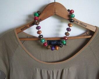 Vintage Round Gold Swirl Necklace