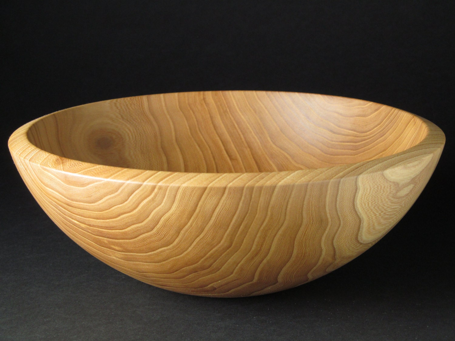 Handmade Wooden Bowl Handcrafted Elm Fruit By