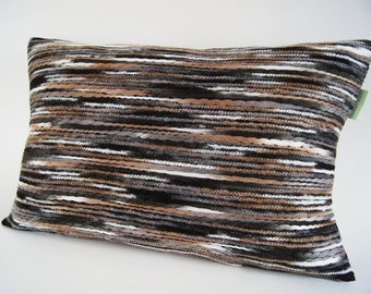 """Urban Wool Blend in Brown/  Designer Pillow Cover / Decorative Cushion/ 12""""x20""""/ Ready To Ship"""
