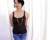 Rain Cascade Necklace. Gold multi chain long necklace. multi strand chain necklace in gold or silver