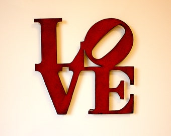 Large Metal Love Wall Art Mesmerizing Metal Love Sign  Etsy Design Ideas