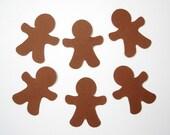 50 Brown Gingerbread Men punch die cut embellishments - No184