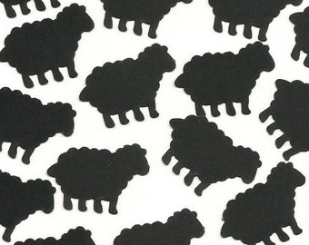 Black Sheep confetti, Mary had a little lamb, Baby Shower Party Decorations - No929