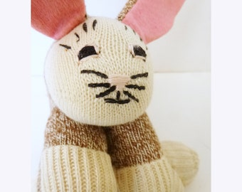 Vintage Homemade Sock Bunny
