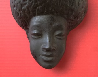 REDUCED 1970's Plaster Head with Afro