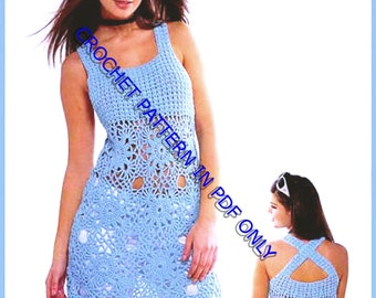 Crochet Pattern instruction for  Girls and Woman Dress- Tunic,  Pattern INSTRUCTION only, PDF Files