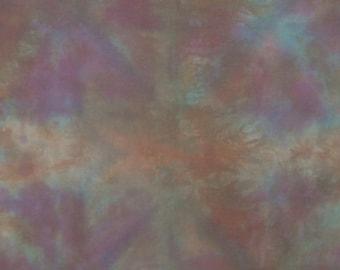 Art Fabric, PURPLE HAZE, Hand Dyed 17 x 42 Inches