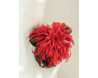 Mum Corsage Red Elegant