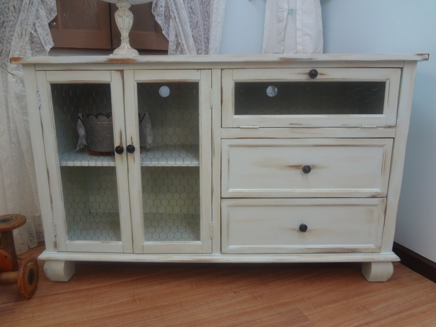 Shabby Chic Rustic Entertainment Center TV Stand By
