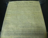Make America Great Again Political HISTORY Bill of Rights Parchment Paper COLLECTIBLE Story of Gov Controversial Exquisite Piece of History